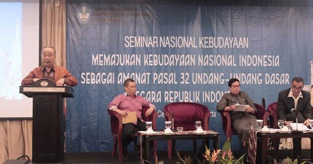 Seminar Nasional Kebudayaan oleh Kementerian Pendidikan dan Kebudayaan Republik Indonesia