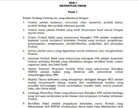 Pelanggaran Konstitusi Negara pada RUU Jaminan Produk Halal